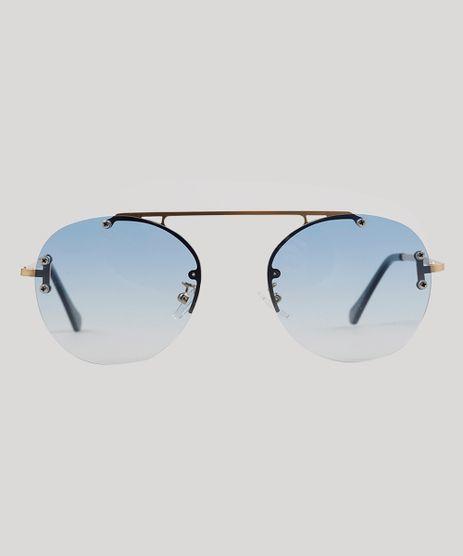 Oculos-de-Sol-Redondo-Feminino-Oneself-Dourado-9215399-Dourado_1