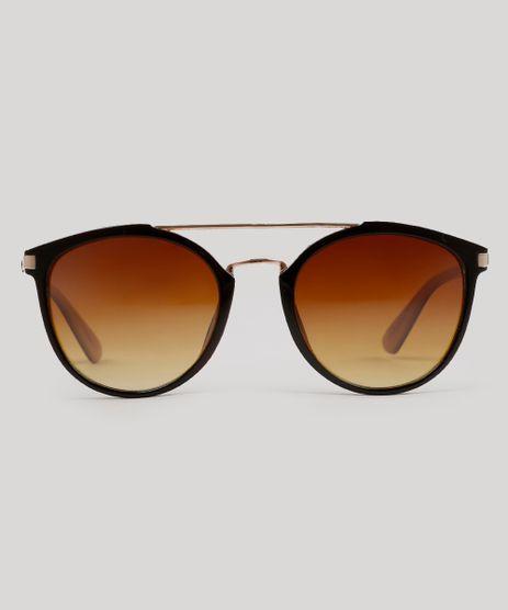 Oculos-de-Sol-Redondo-Feminino-Oneself-Marrom-9215412-Marrom_1