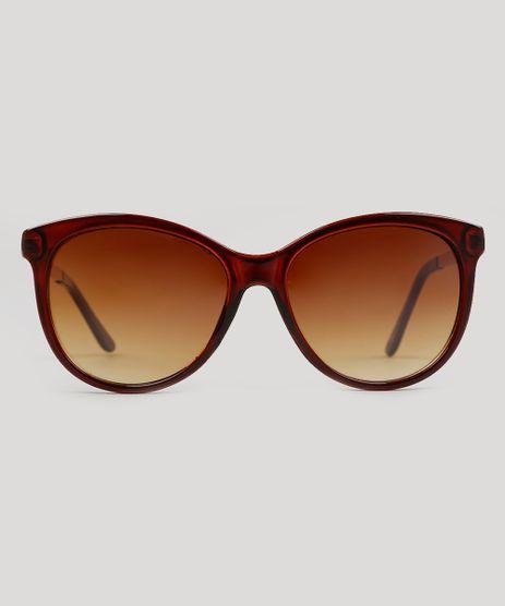 Oculos-de-Sol-Redondo-Feminino-Oneself-Marrom-9215502-Marrom_1