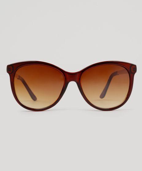 Oculos-de-Sol-Redondo-Feminino-Oneself-Marrom-9215517-Marrom_1
