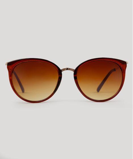 Oculos-de-Sol-Redondo-Feminino-Oneself-Marrom-9215478- c46435ad9f