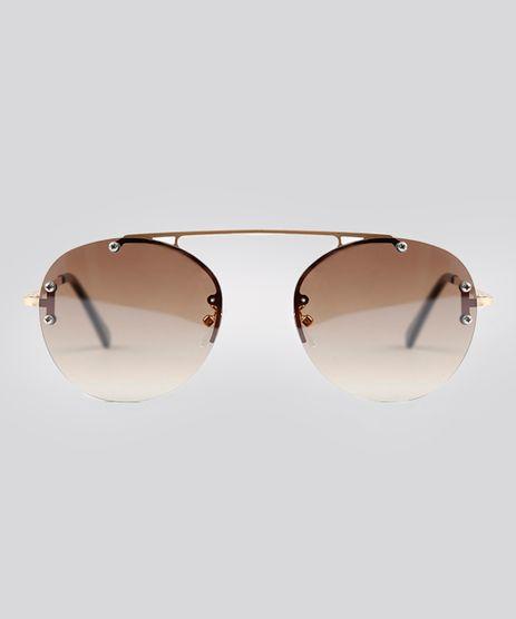 Oculos-de-Sol-Redondo-Feminino-Oneself-Dourado-9215402-Dourado_1