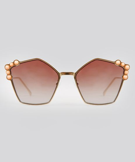 Oculos-de-Sol-Redondo-Feminino-Oneself-Dourado-9215405-Dourado_1