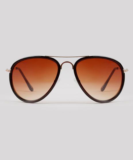Oculos-de-Sol-Aviador-Feminino-Oneself-Marrom-Escuro-9215445-Marrom_Escuro_1