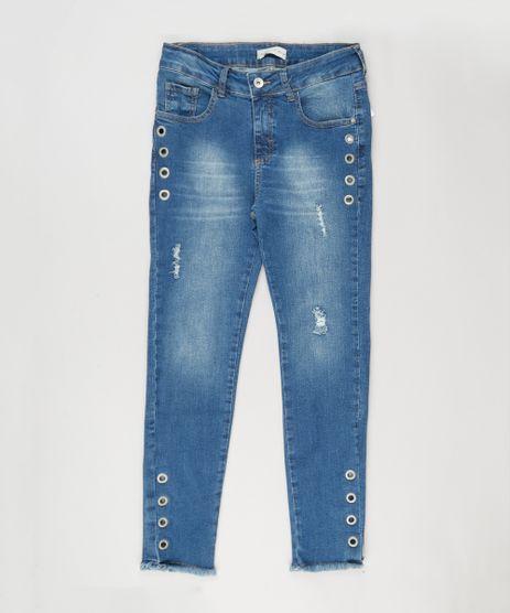 Calca-Jeans-Infantil-com-Puidos-e-Ilhos-Azul-Medio-9068670-Azul_Medio_1