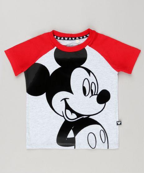 Camiseta-Infantil-Raglan-Mickey-Mouse-Manga-Curta-Gola-Careca-Cinza-Mescla-Claro-8647280-Cinza_Mescla_Claro_1
