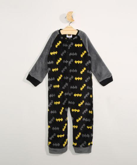 Pijama-Macacao-Infantil-em-Fleece-Manga-Longa-Estampado-Batman-Preto-9972648-Preto_1
