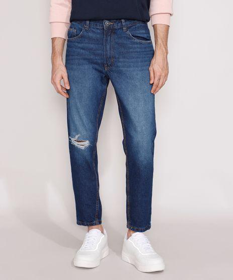 Calca-Jeans-Masculina-Slim-Destroyed-Azul-Escuro-9980344-Azul_Escuro_1