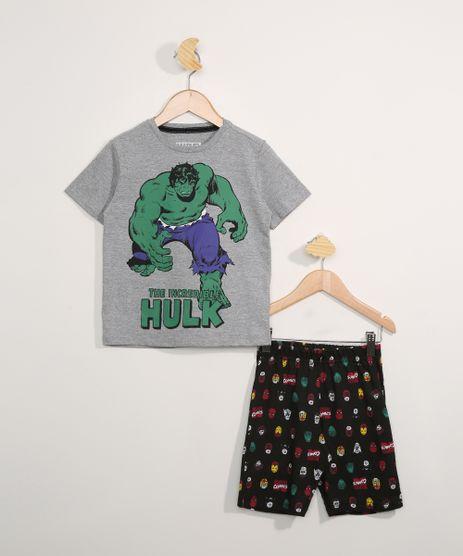 Pijama-Infantil-Manga-Curta-Hulk-Cinza-Mescla-Escuro-9983643-Cinza_Mescla_Escuro_1