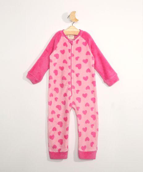 Pijama-Macacao-Infantil-em-Fleece-Manga-Longa-Estampado-de-Coracao-Rosa-9972643-Rosa_1