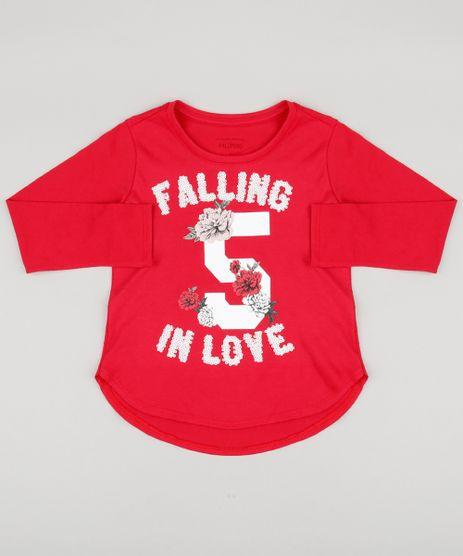Blusa-Infantil--Falling-In-Love--com-Paetes-Manga-Longa-Decote-Redondo-em-Algodao---Sustentavel-Vermelha-9132423-Vermelho_1