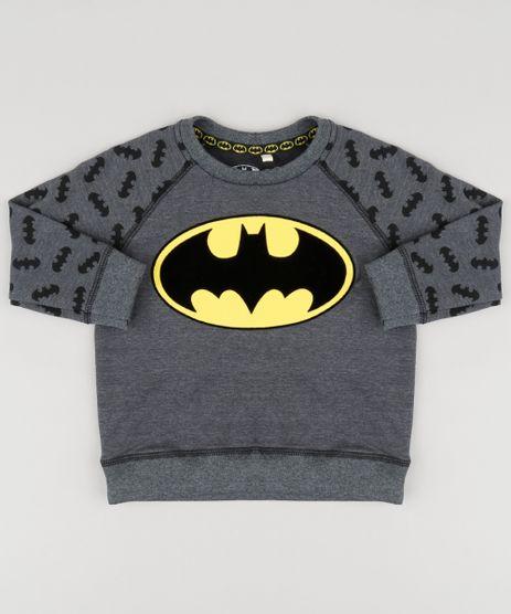 Blusao-Infantil-Batman-em-Moletom-Gola-Careca-Cinza-Mescla-Escuro-9140243-Cinza_Mescla_Escuro_1