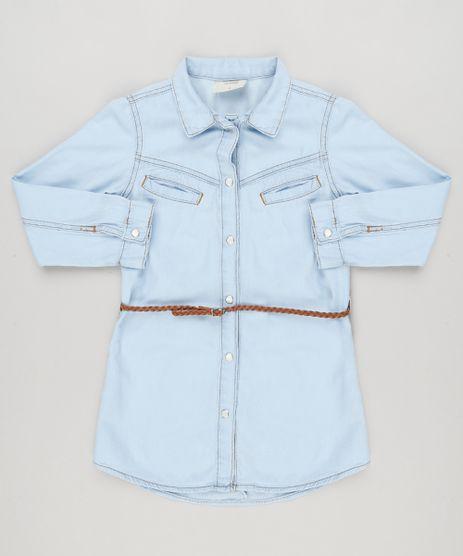 Vestido-Chemise-Jeans-Infantil-com-Cinto-Trancado-Azul-Claro-9168806-Azul_Claro_1