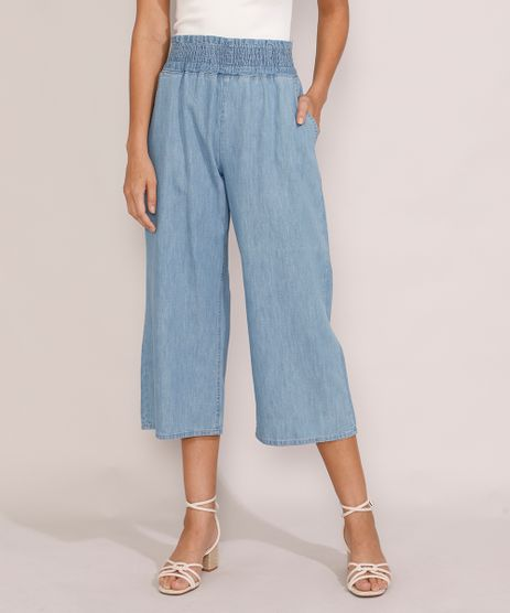 Calca-Jeans-Feminina-Pantacourt-Cintura-Super-Alta-Azul-Medio-9986306-Azul_Medio_1