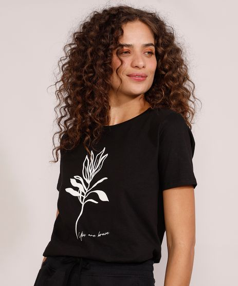 Camiseta-Feminina-Manga-Curta--You-Are-Brave--Decote-Redondo-Preta-9974554-Preto_1