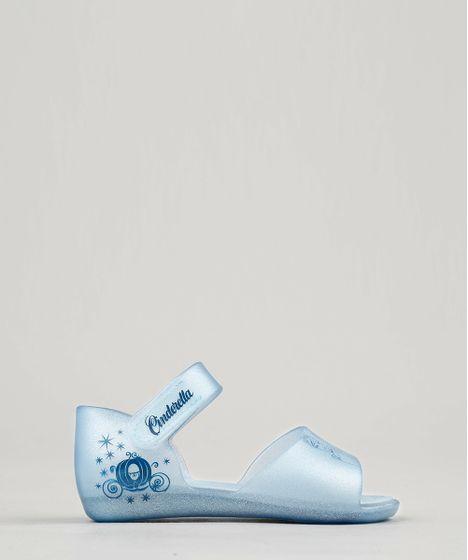 347781f515 Sandália Infantil Grendene Cinderela com Glitter Azul Claro - cea