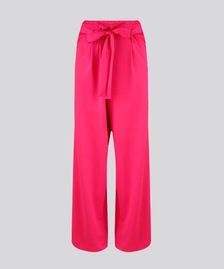 Calca-Feminina-Pantalona-de-Malha-com-Faixa-para-Amarrar-Pink-9253251-Pink_2