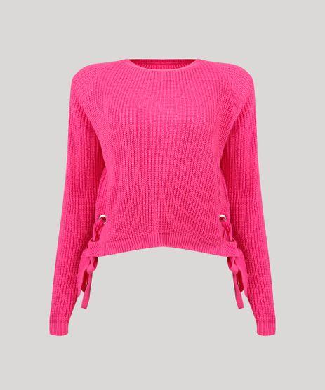 Sueter-Feminino-em-Tricot-com-Ilhos-e-Tiras--Pink-9250728-Pink_2