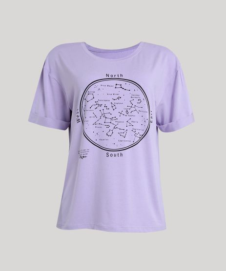 T-shirt-Feminina-Manga-Curta-com-Constelacoes--Lilas-9251624-Lilas_2