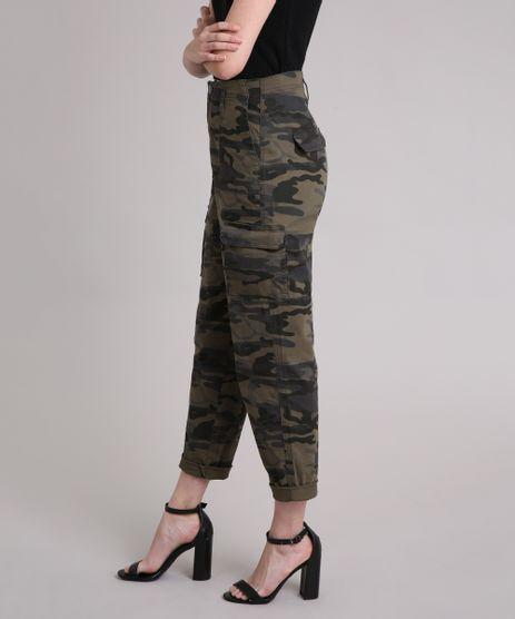 Calca-Feminina-Cintura-Alta-Mom-Pants-Cargo-Camuflado-Verde-Militar-9250599-Verde_Militar_1
