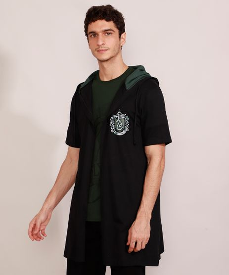 Capa-Masculina-Harry-Potter-Sonserina-com-Capuz-Manga-Curta-Preta-8933806-Preto_1