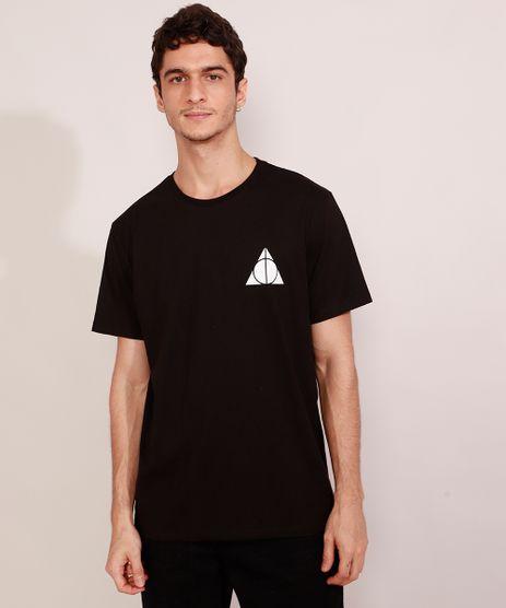 Camiseta-Masculina-Harry-Potter-Reliquias-da-Morte-Manga-Curta-Gola-Careca-Preta-9984922-Preto_1