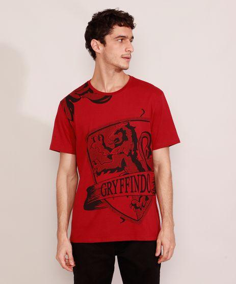 Camiseta-Masculina-Harry-Potter-Grifinoria-Manga-Curta-Gola-Careca-Vinho-9984924-Vinho_1