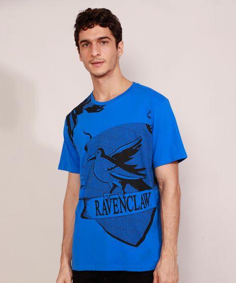 Camiseta-Masculina-Harry-Potter-Corvinal-Manga-Curta-Gola-Careca-Azul-9984926-Azul_1