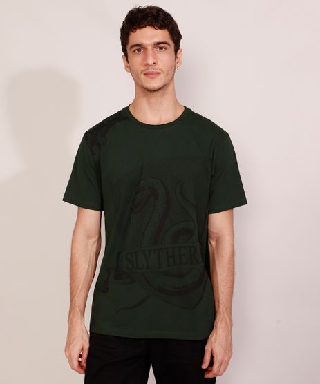 Camiseta-Masculina-Manga-Curta-Sonserina-Harry-Potter-Gola-Careca-Verde-Escuro-9984925-Verde_Escuro_1