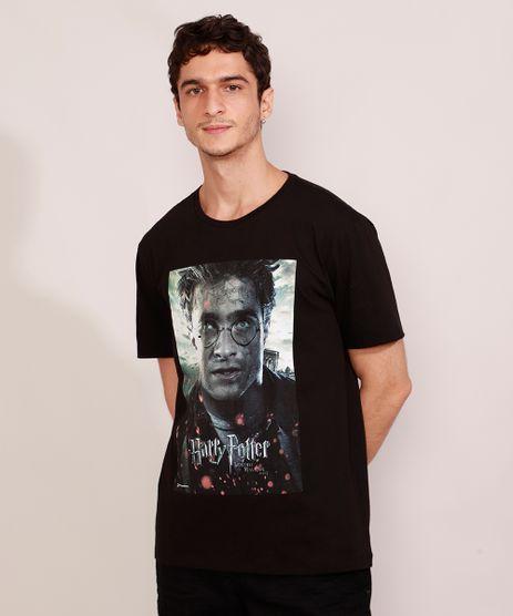 Camiseta-Masculina-Manga-Curta-Harry-Potter-Reliquias-da-Morte-Gola-Careca-Preta-9984920-Preto_1