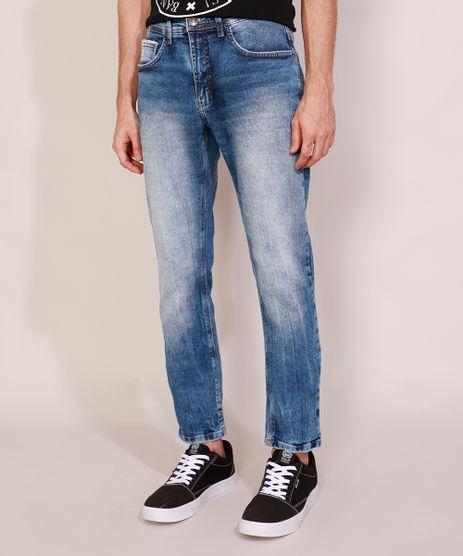 Calca-Jeans-Masculina-Slim-Marmorizada-Azul-Medio-9980915-Azul_Medio_1