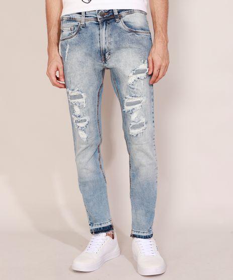 Calca-Jeans-Masculina-Skinny-Destroyed-Marmorizada-Azul-Claro-9964247-Azul_Claro_1