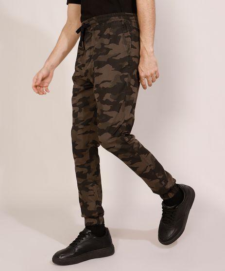 Calca-de-Sarja-Masculina-Jogger-Skinny-Camuflada-com-Cordao-Multicor-9979565-Multicor_1