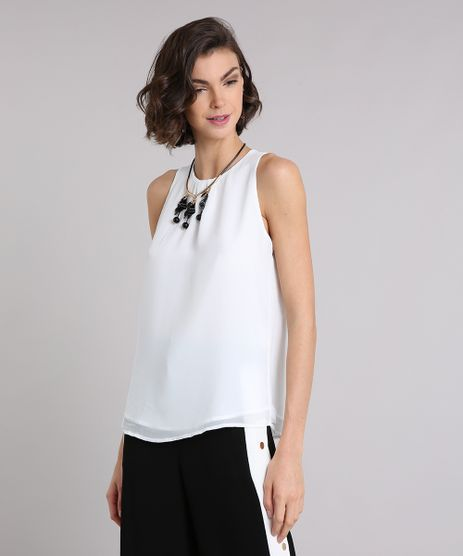 Regata-Feminina-com-Franzido-Decote-Redondo-Off-White-9000650-Off_White_1
