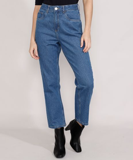 Calca-Jeans-Feminina-Mindset-Reta-Paris-Cintura-Alta-Azul-Medio-9987763-Azul_Medio_1