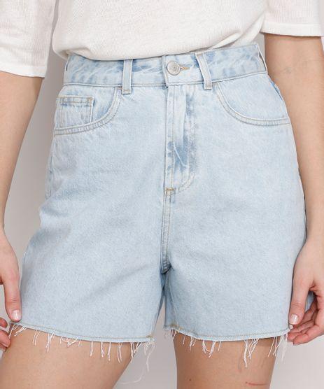 Short-Jeans-Feminino-Mindset-Los-Angeles-Cintura-Alta-Azul-Claro-9985146-Azul_Claro_1