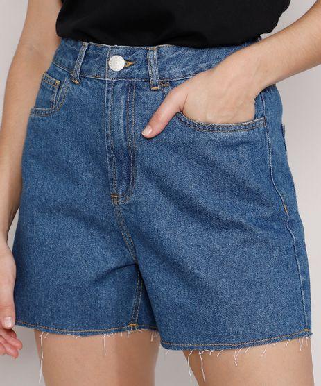 Short-Jeans-Feminino-Mindset-Los-Angeles-Cintura-Alta-Azul-Medio-9985146-Azul_Medio_1