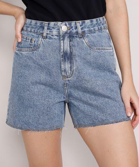 Short-Jeans-Feminino-Mindset-Los-Angeles-Cintura-Alta-Azul-Medio-Marmorizado-9985146-Azul_Medio_Marmorizado_1