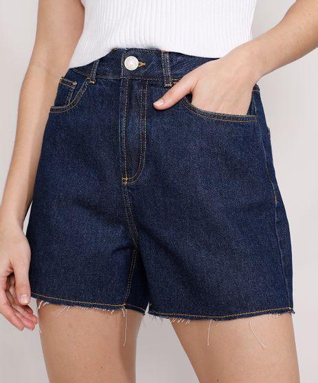 Short-Jeans-Feminino-Mindset-Los-Angeles-Cintura-Alta-Azul-Escuro-9985146-Azul_Escuro_1