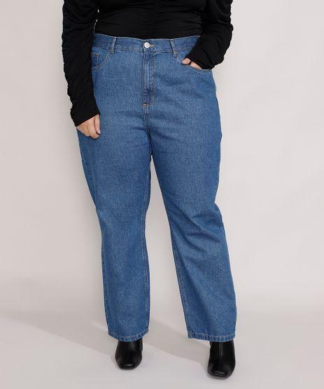 Calca-Jeans-Feminina-Plus-Size-Mindset-Reta-Paris-Cintura-Alta-Azul-Medio-9987762-Azul_Medio_1