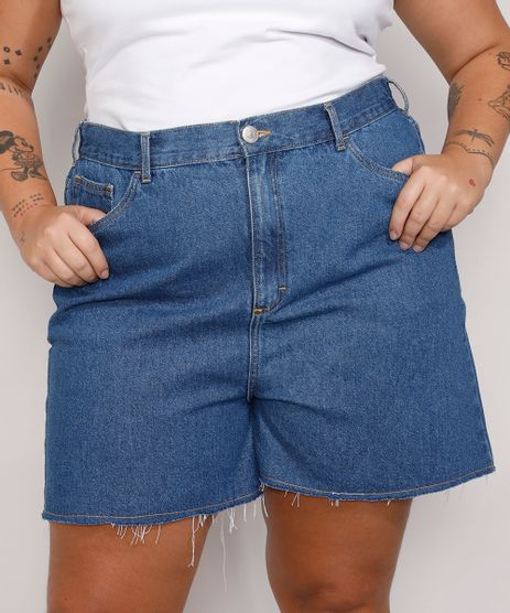 Short-Jeans-Feminino-Plus-Size-Mindset-Los-Angeles-Cintura-Alta-Azul-Medio-9987769-Azul_Medio_1