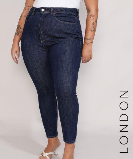 Calca-Jeans-Feminina-Plus-Size-Mindset-Skinny-Modelo-London-Cintura-Alta-Azul-Escuro-9987383-Azul_Escuro_1