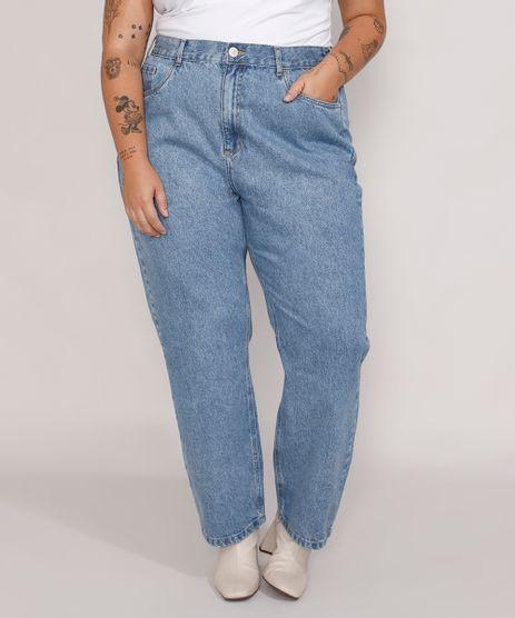 Calca-Jeans-Feminina-Plus-Size-Mindset-Reta-Paris-Cintura-Alta-Azul-Medio-Marmorizado-9987762-Azul_Medio_Marmorizado_1