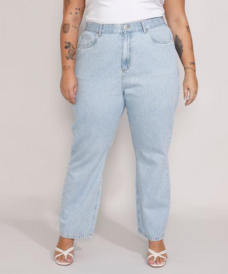 Calca-Jeans-Feminina-Plus-Size-Mindset-Reta-Paris-Cintura-Alta-Azul-Claro-9987762-Azul_Claro_1