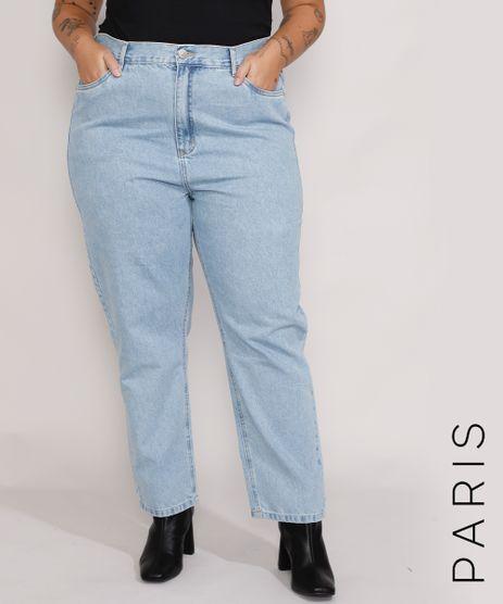 Calca-Jeans-Feminina-Plus-Size-Mindset-Reta-Paris-Cintura-Alta-Azul-Claro-Marmorizado-9987762-Azul_Claro_Marmorizado_1
