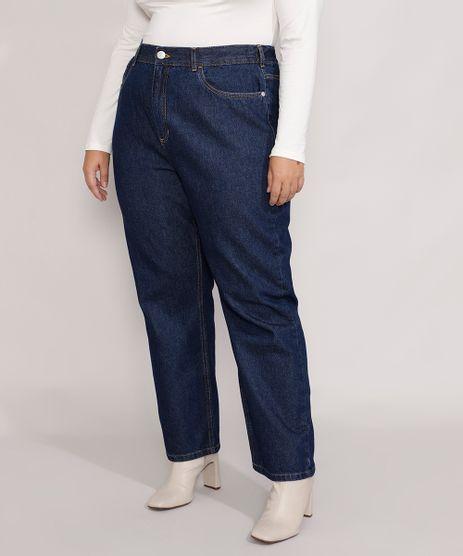 Calca-Jeans-Feminina-Plus-Size-Mindset-Reta-Paris-Cintura-Alta-Azul-Escuro-9987762-Azul_Escuro_1