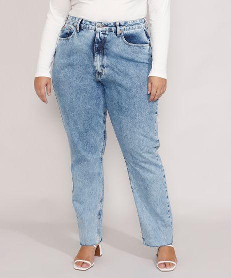 Calca-Jeans-Feminina-Plus-Size-Mindset-Reta-Loose-Copenhagen-Cintura-Super-Alta-Azul-Medio-Marmorizado-9987382-Azul_Medio_Marmorizado_1