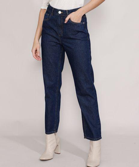 Calca-Jeans-Feminina-Mindset-Reta-Paris-Cintura-Alta-Azul-Escuro-9987763-Azul_Escuro_1