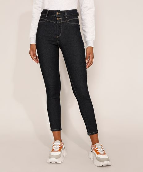 Calca-Jeans-Feminina-Cintura-Alta-Sawary-Cigarrete-360-Azul-Escuro-9983862-Azul_Escuro_1