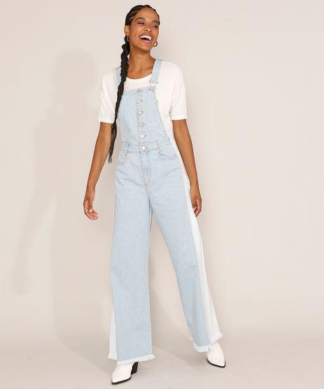 Macacao-Jeans-Feminino-Wide-Bicolor-com-Botoes-e-Barra-Desfiada-Azul-Claro-9985793-Azul_Claro_1